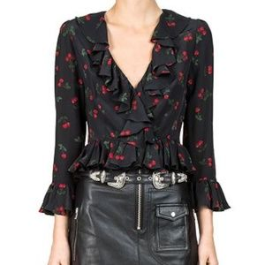 SALE FINAL PRICE The Kooples Cherry Ruffle Top 🍒
